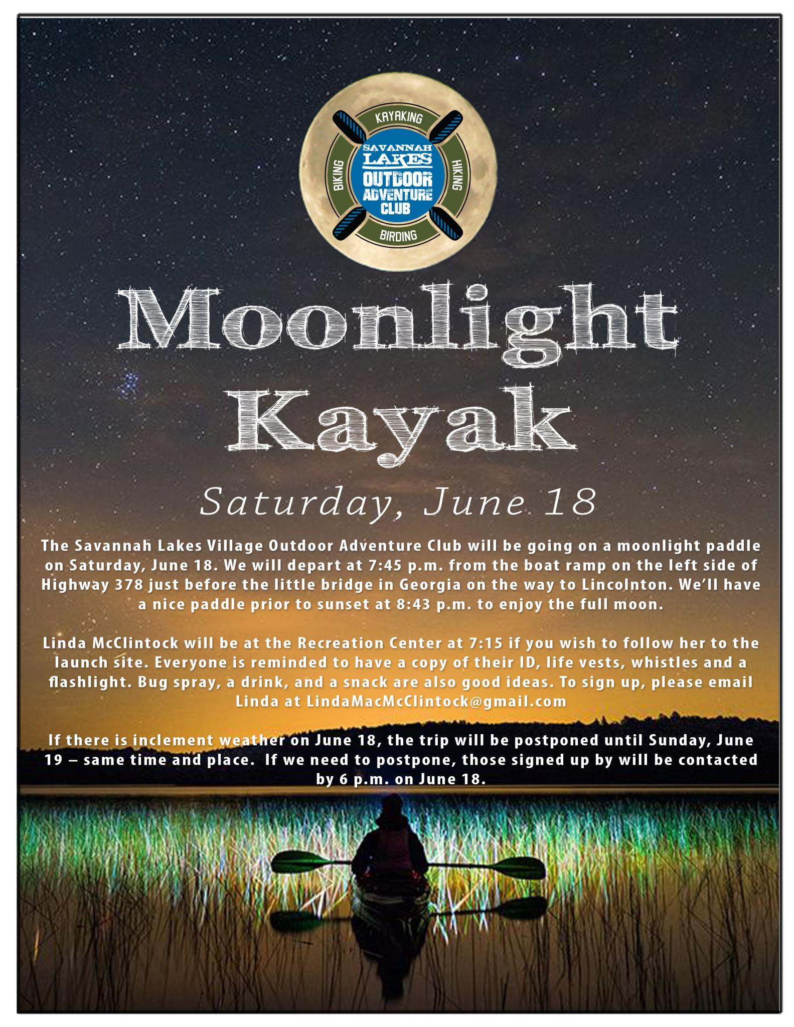 Moonlight Kayak